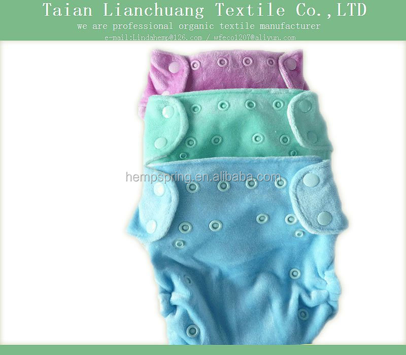 eco friendly bamboo velour cloth diapers for babies