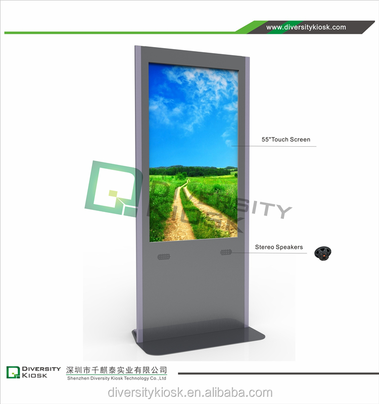 46 inch hd multitouch interactive kiosk steel enclosure smart mall kiosk self -service payment kiosk