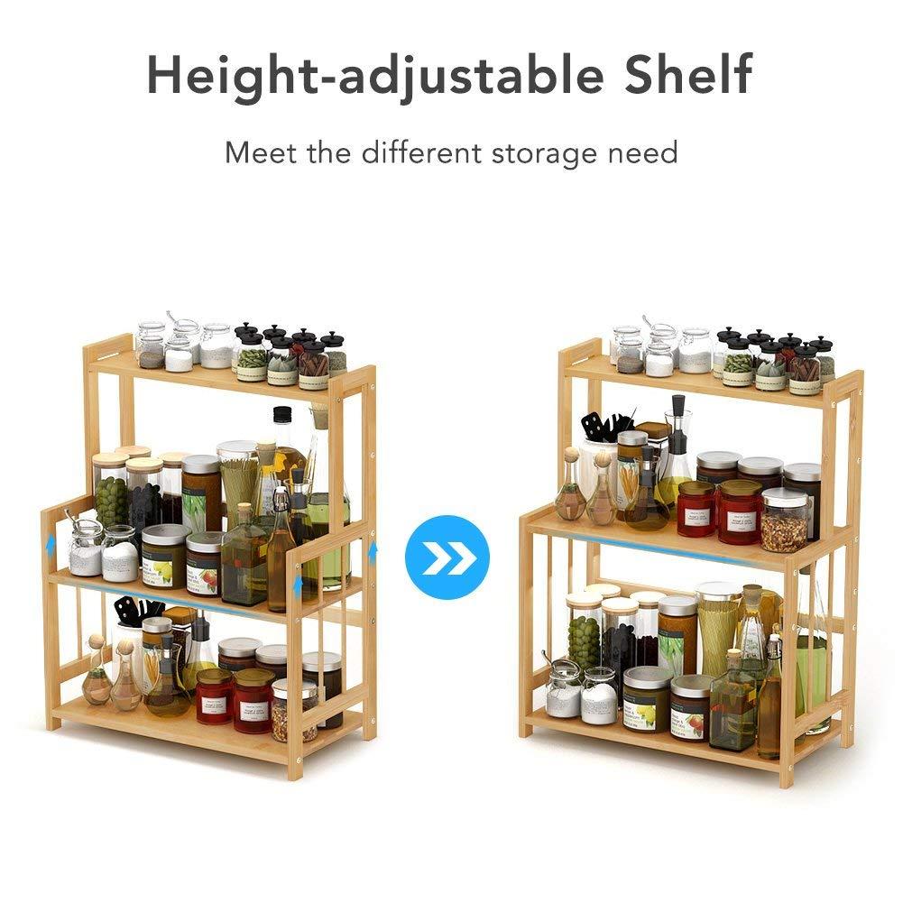 3-Tier Standing Spice Rack  Kitchen Bathroom Countertop Storage Organizer