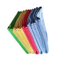 China wholesale household items square microfibre absorbent cleaning cloth