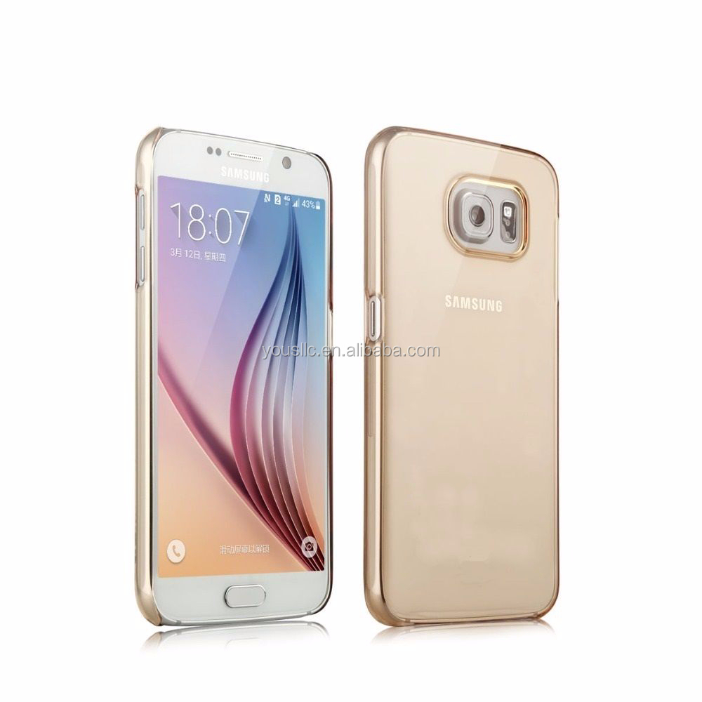 CRYSTAL CLEAR HARD BACK COVER CASE PROTECTOR FOR SAMSUNG GALAXY S6 & S6 EDGE