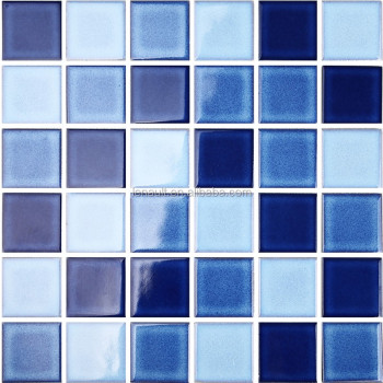 Dark Blue Colour Bathroom Ceramic Wall Tile Swimming Pool Tile Buy