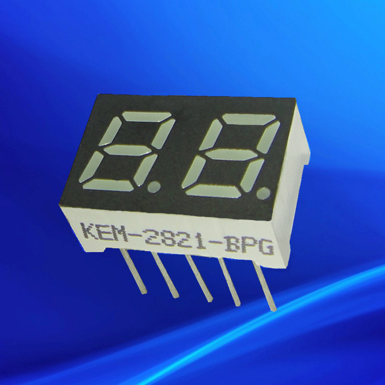 0.28 inch small ata2281ar 7 segment led display 2 digits
