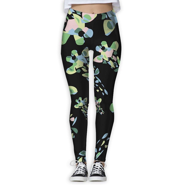 5b0fe0e28c Get Quotations · Giraffe Funny Women Elastic Pants Leggings Workout Yoga  Pants