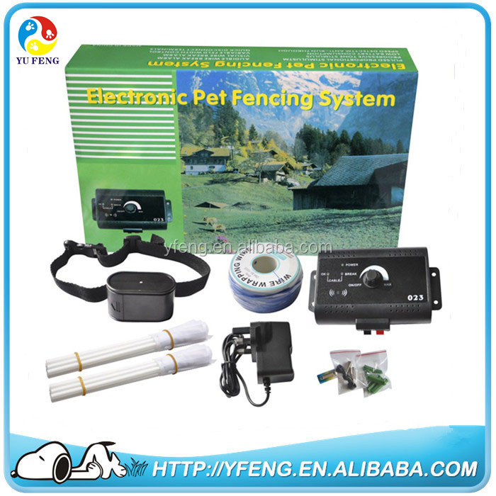 Electronic Pet Fencing System Training Electric Fence Cat Dog Collar Vibra Shock With Tone & Shock Pulse Stimulus + 300M Wire