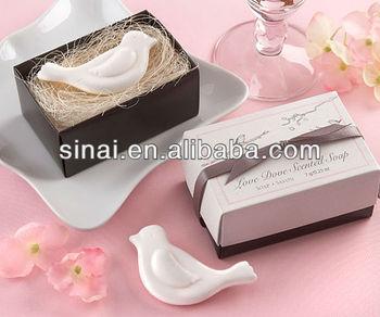 Factory Price Beautiful White Love Bird Wedding Soap - Buy Soap ...