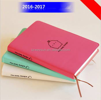 molang rabbit cute diary any year planner pocket journal kawaii