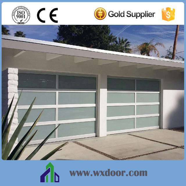 China Product Commercial Interior Garage Door Glass Garage Door