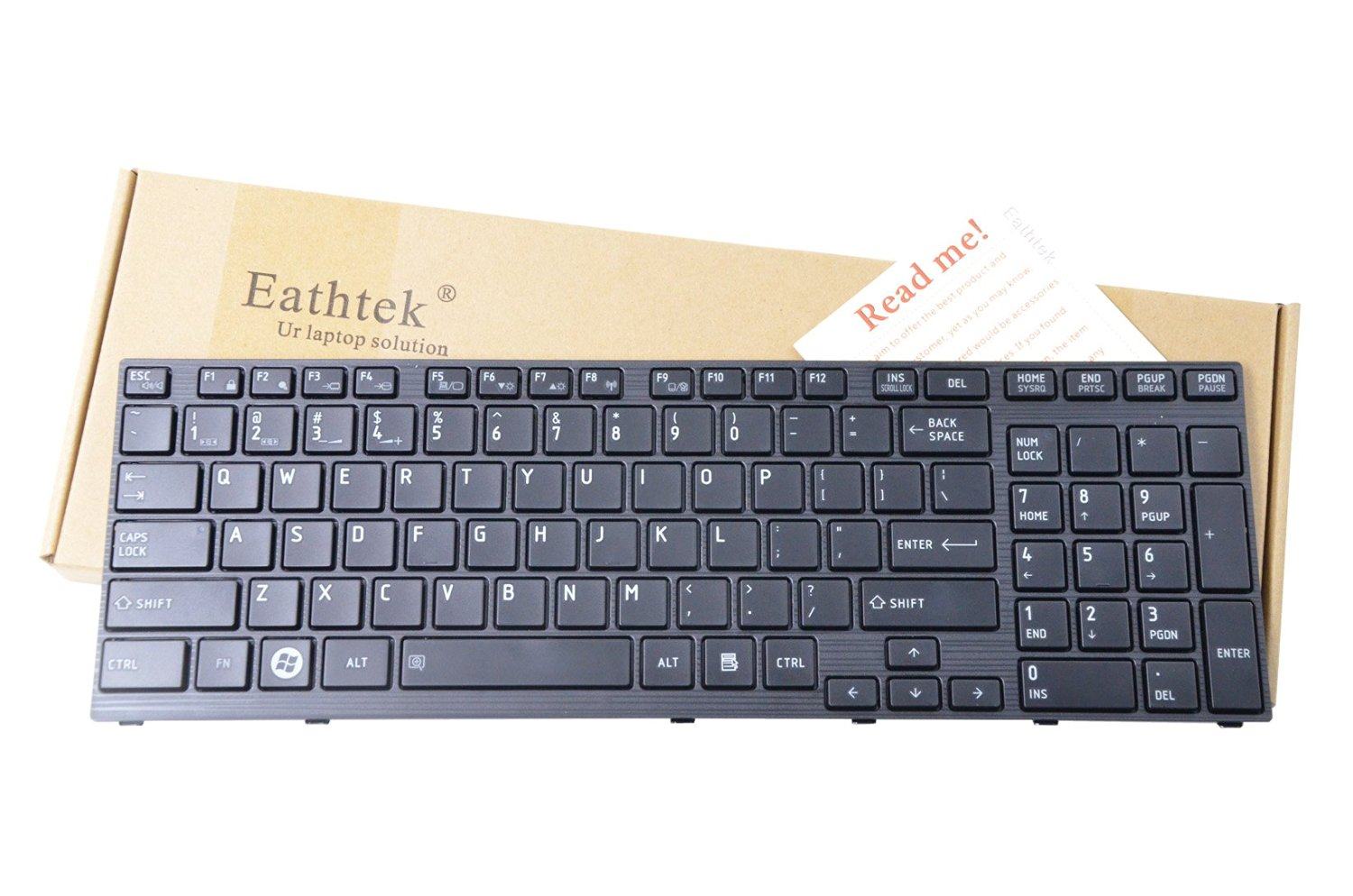 Eathtek Laptop Replacement Keyboard for Toshiba Satellite A660 A665 A660D A665D series Black US Layout