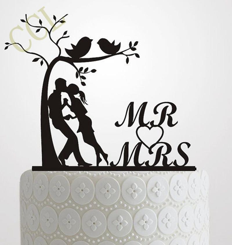 Silhouette Tree Wedding Cake