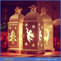 Christmas tree metal lantern candle holders of angel