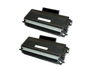 2-Pack Compatible Toner Cartridge Replacements for Brother TN-580 (TN580), Black, for use with Brother MFC 8460N 8660DN 8670DN 8860DN 8870DW / HL 5240 5250DN 5250DNT 5280DW / DCP 8060 8065DN Printer