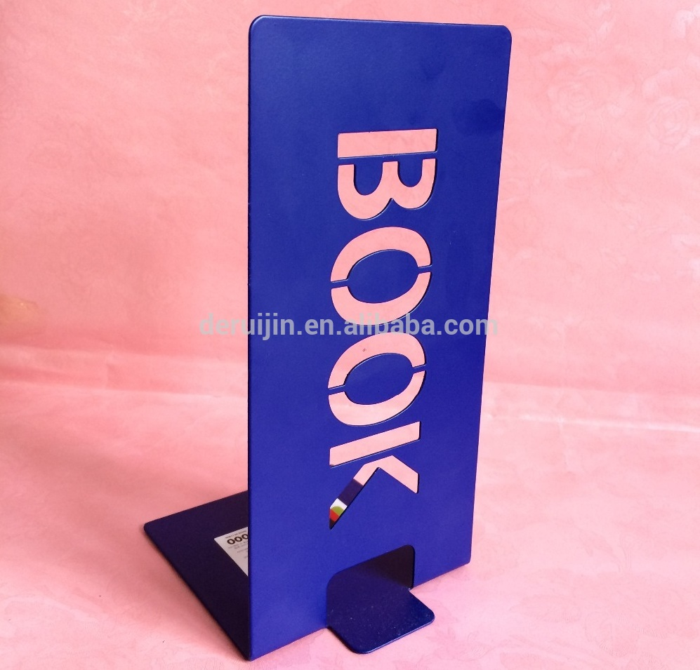 Metal Steel Factory Price Decorative Desktop Home/Office Bookend/book stand BE-SH04