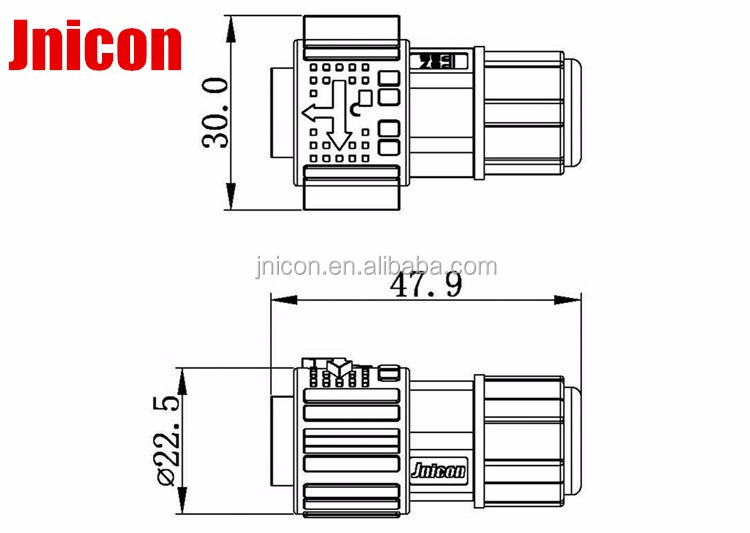 HTB1oZyeXgvGK1JjSspiq6A96FXav round connector waterproof 9 pin male circular auto electrical