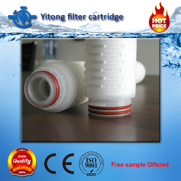 China supplier hydrophobic pp pleated filter cartridge in sediment filter water filter