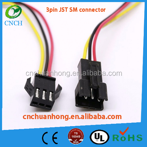 JST-SM 3/4-Pin Plug Terminal Connector Male + Female 2.5mm Pitch pigtail connector