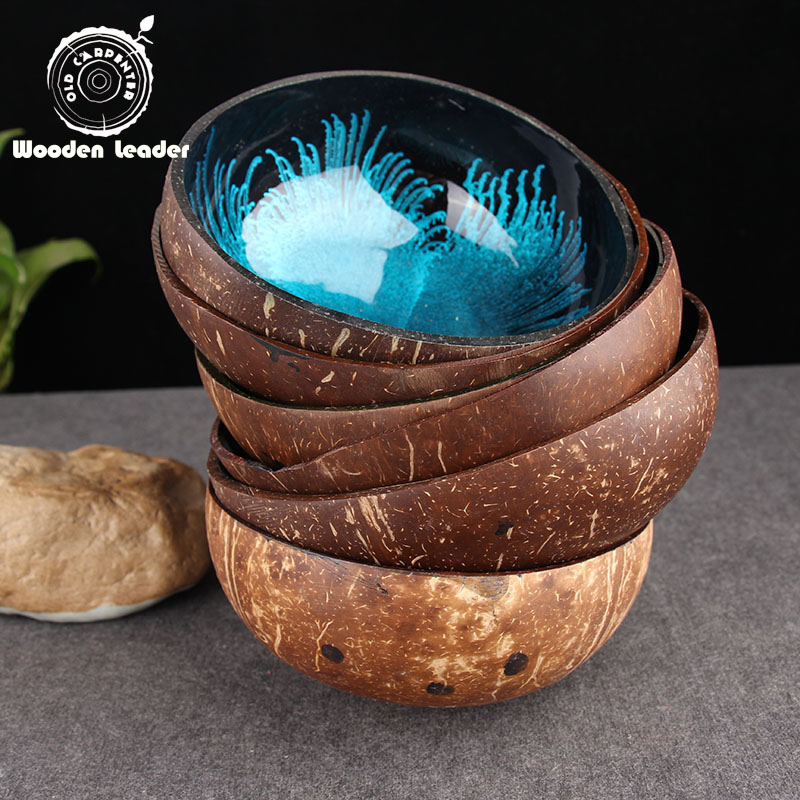 Colorful Customized Natural Coconut Party Bowl