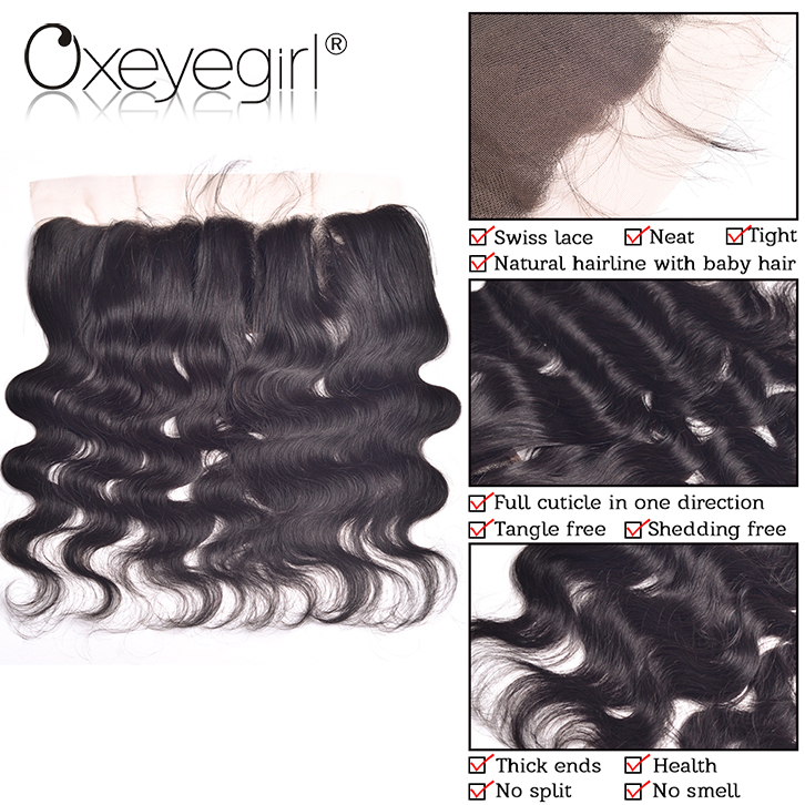 Ear to ear lace frontals with baby hair, Brazilian silk base closures lace frontal, frontal lace closure with bundles