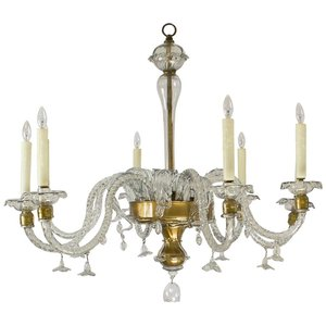 hot sale 8 light glass murano chandelier italian art chandelier