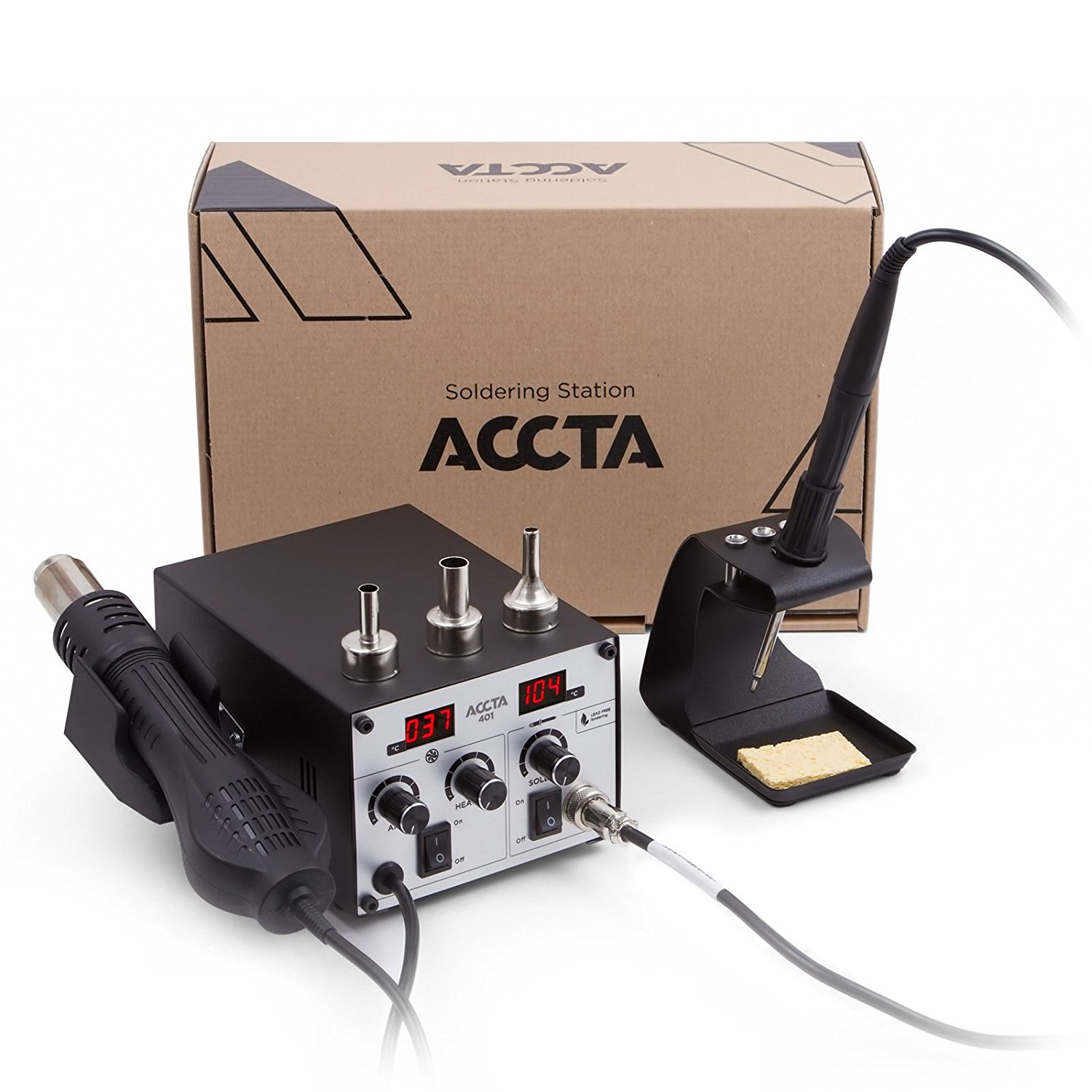 Get Quotations · Accta 401 Hot Air Rework Station Soldering Iron Hot Air  Gun 450 W 220 V with