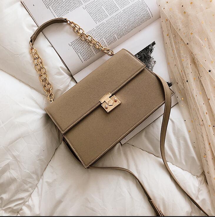 Роскошная брендовая сумка, 2020, новая модная Высококачественная женская сумка из искусственной кожи, большая сумка-тоут с цепочкой, сумки че...(Китай)