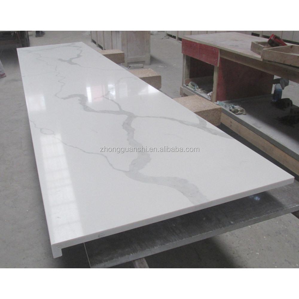 Prefab Calacatta Quartz Countertop