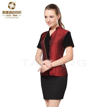 2018 new series high quality hotel uniform for waitress
