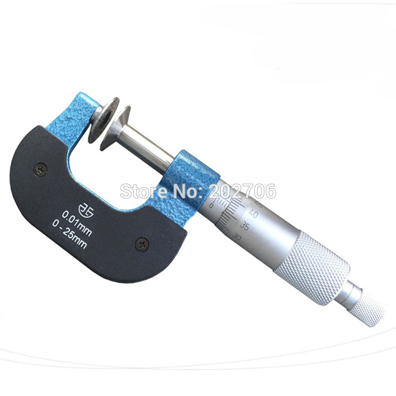 Gear Tooth 0-25mm Disc Micrometer