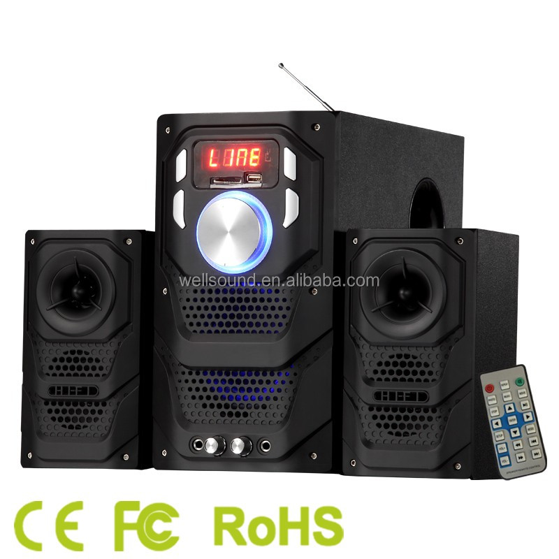 2.1ch amplifier home theater speaker stereo sound system 21 inch speaker