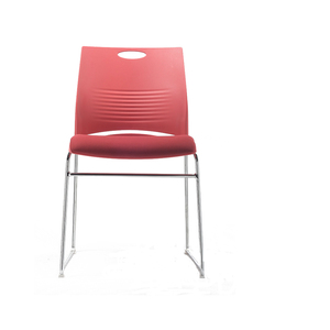 Modern plastic stacking office conference visitor chair without wheels