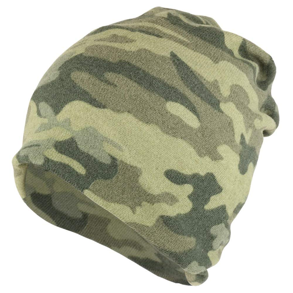 Armycrew Camouflage Polyester Super Soft Jersey Lightweight Beanie Hat