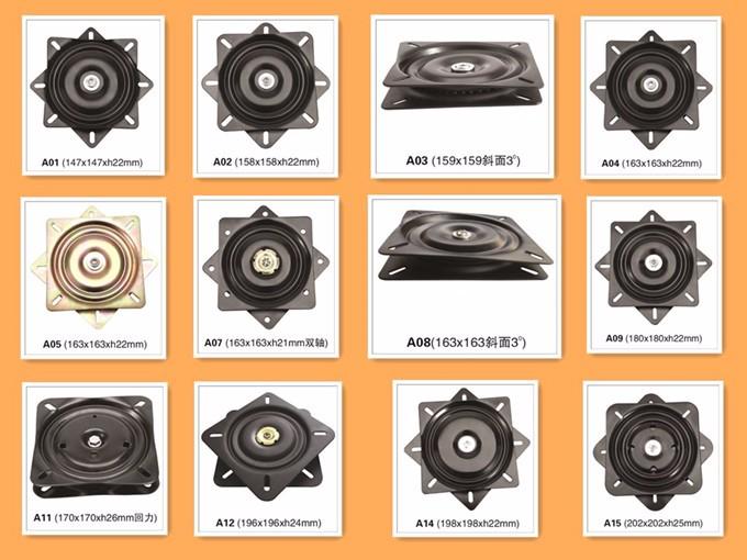 360 Degree Free Rotation Bar Stool Turntable Swivel Plate