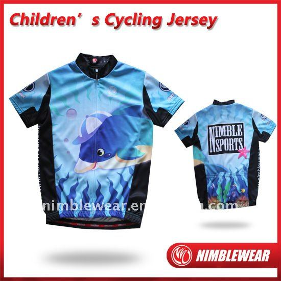 Hot Sell Cute Nimblewear Sublimated Children's Cycling Jerseys