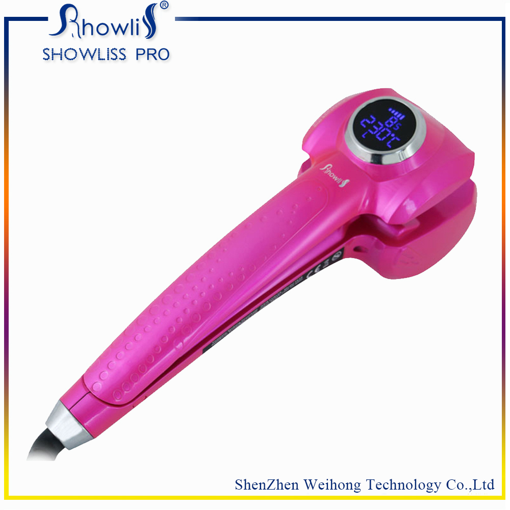 2017 new design professional Personalized Ceramic magic automatic LCD hair curler