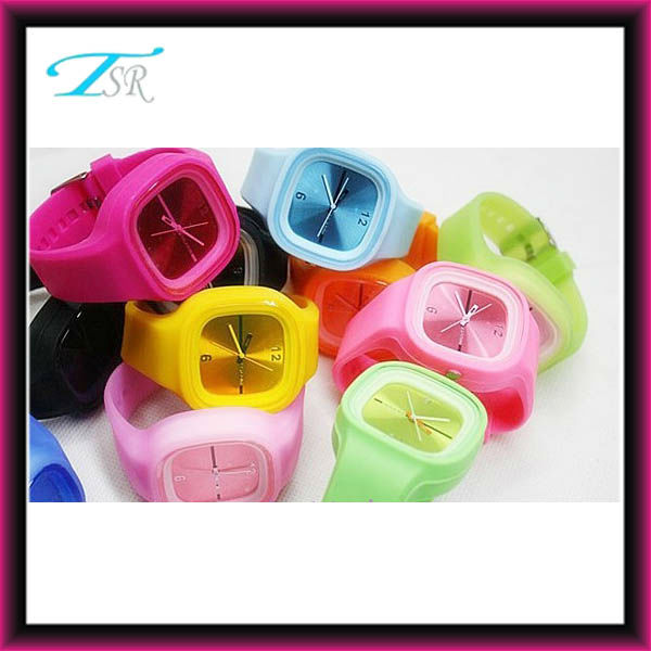 cheap promotion jelly watches wholesale with Chinese SL68 movement popular in USA