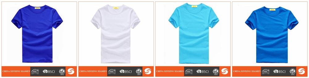 Hot Sale Color Blue 100 Egyptian Cotton Blank T Shirt