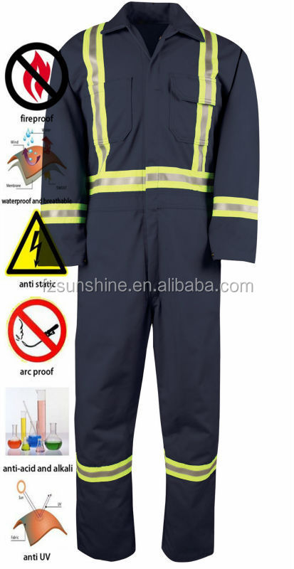 2016 Fireproof Tactical Coveralls With Reflector