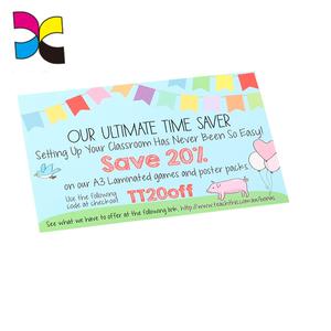 OEM Promotional China wholesale catalogue shopping coupon leaflet lucky  raffle ticket
