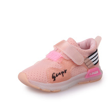 2017 New casual breathable led kids sports shoes
