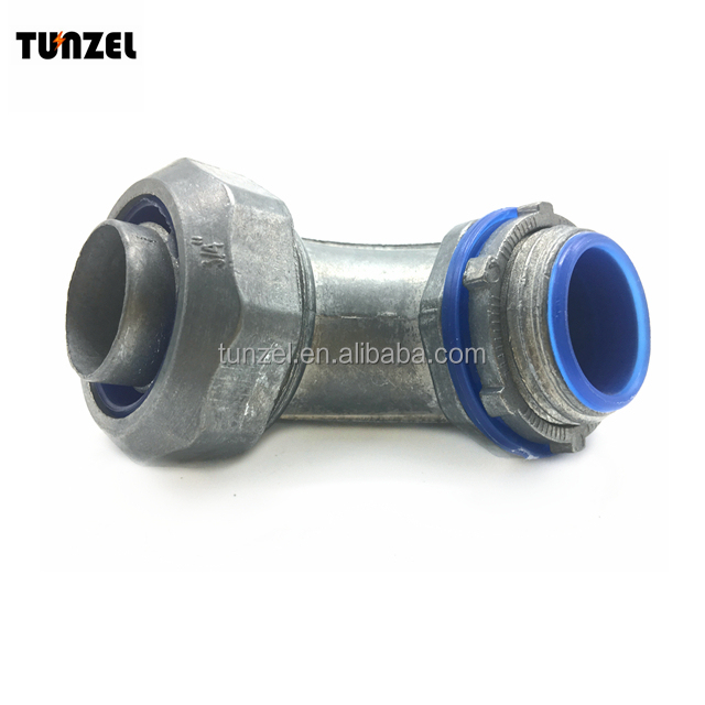 90 angle Rain tight flexible duct conduit connector by Chinese supplier
