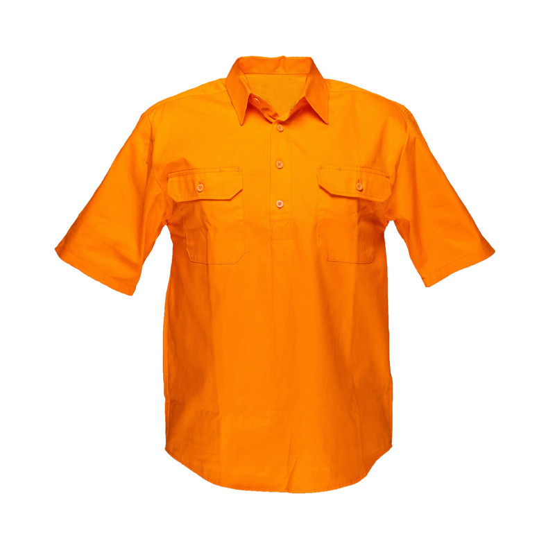 work shirts wholesale hi vis <strong>orange</strong> ripstop workwear shirts
