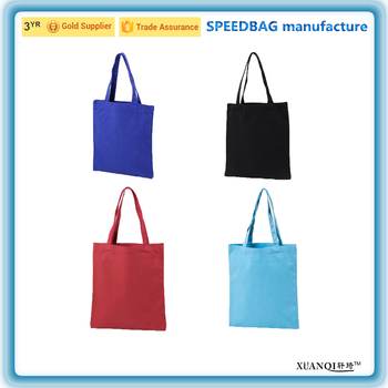 c2de2fd491 Wholesale Plain Blank Mix Colors Canvas Tote Shopping Bag - Buy ...