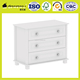 bedroom furniture white uv lacquering 3 drawer cabinet