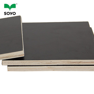 15mm professional brown two time hot press non-slip film faced plywood