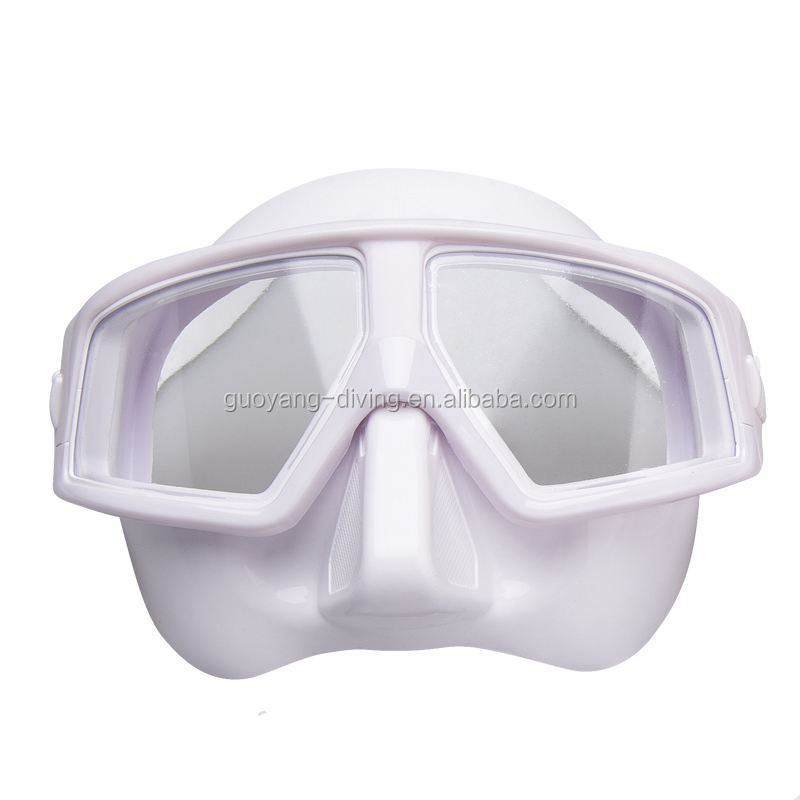 Low Volume Silicone Diving Mask UV Resistant Anti Fogging Resin Lens Freediving Mask