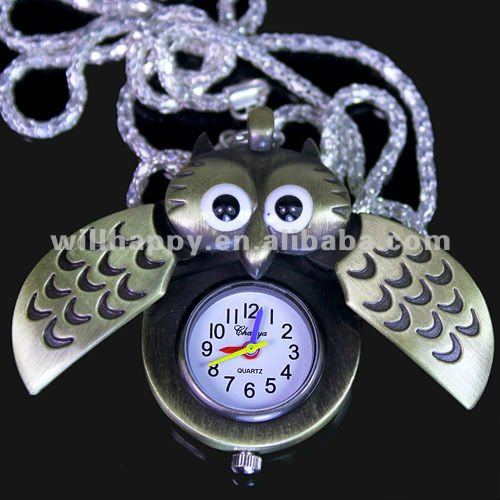 SW-383 High quality stylish children special owl gift pocket watch