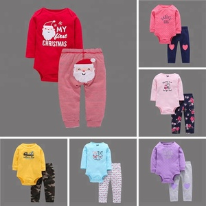 BRS1007 Bulk wholesale cotton soft baby kid child carter's clothing sets wholesale carters baby clothes 2018
