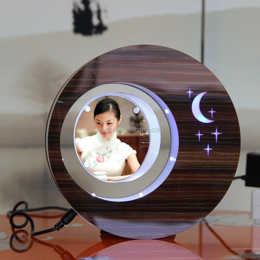 LED suspensión en el aire levitación magnética marco de fotos regalo ...