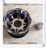 Complete drift trike axle kit with racing go-kart rims 8