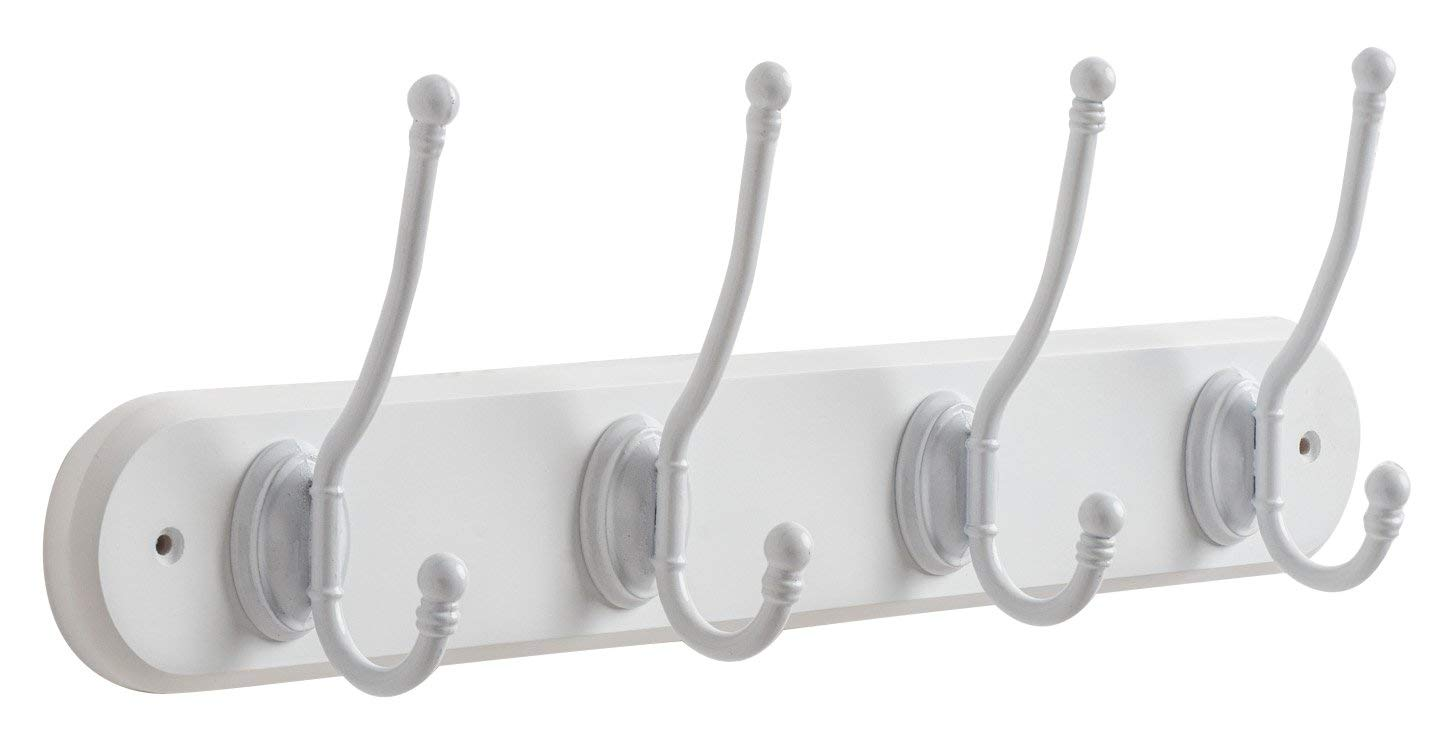 Get Quotations Wooden Coat Rack With 4 White Acorn Hooks In Hand Painted 17 7 X 72
